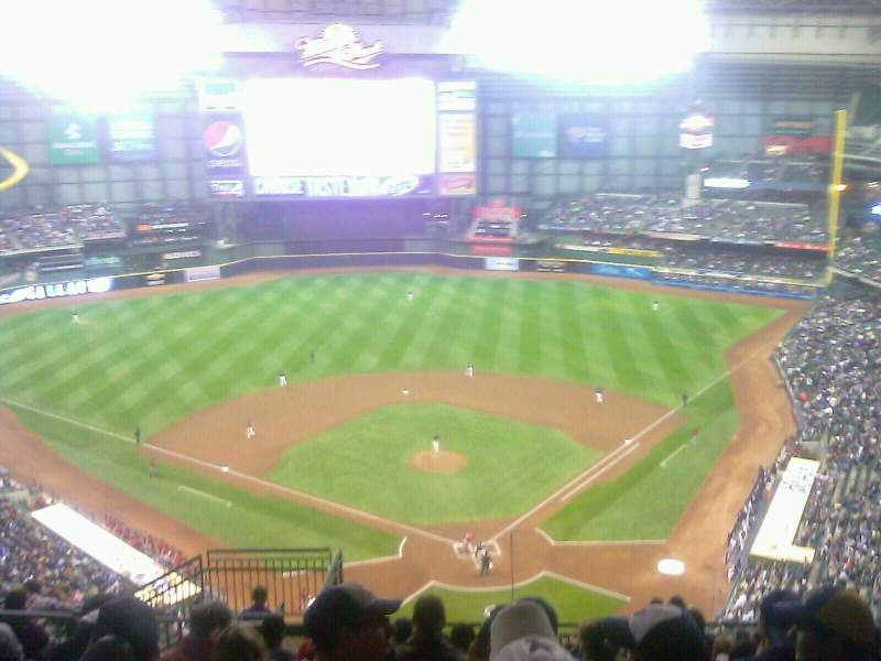 Seating view for Miller Park Section 425 Row 25 Seat 8