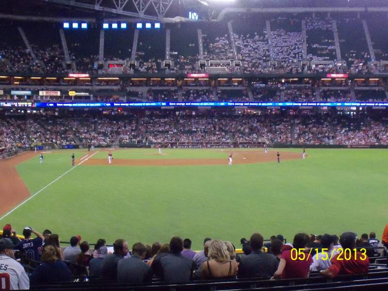 Seating view for Chase Field Section 106 Row K Seat 30