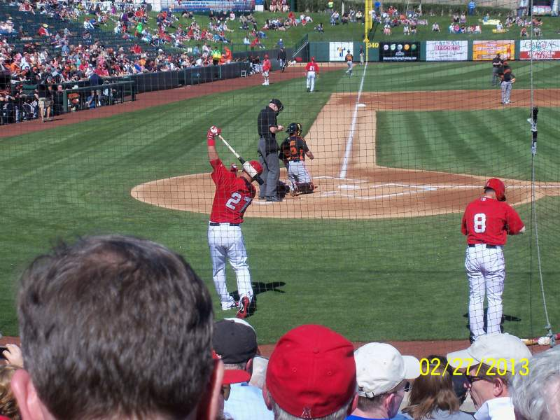 Seating view for Tempe Diablo Stadium Section 14 Row G Seat 7