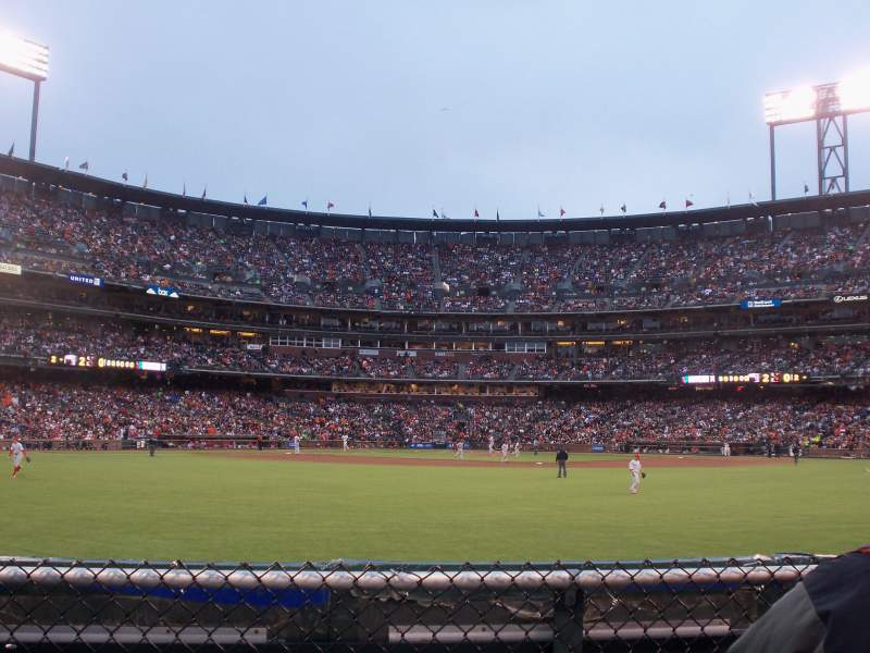 Seating view for AT&T Park Section 141 Row C Seat 4