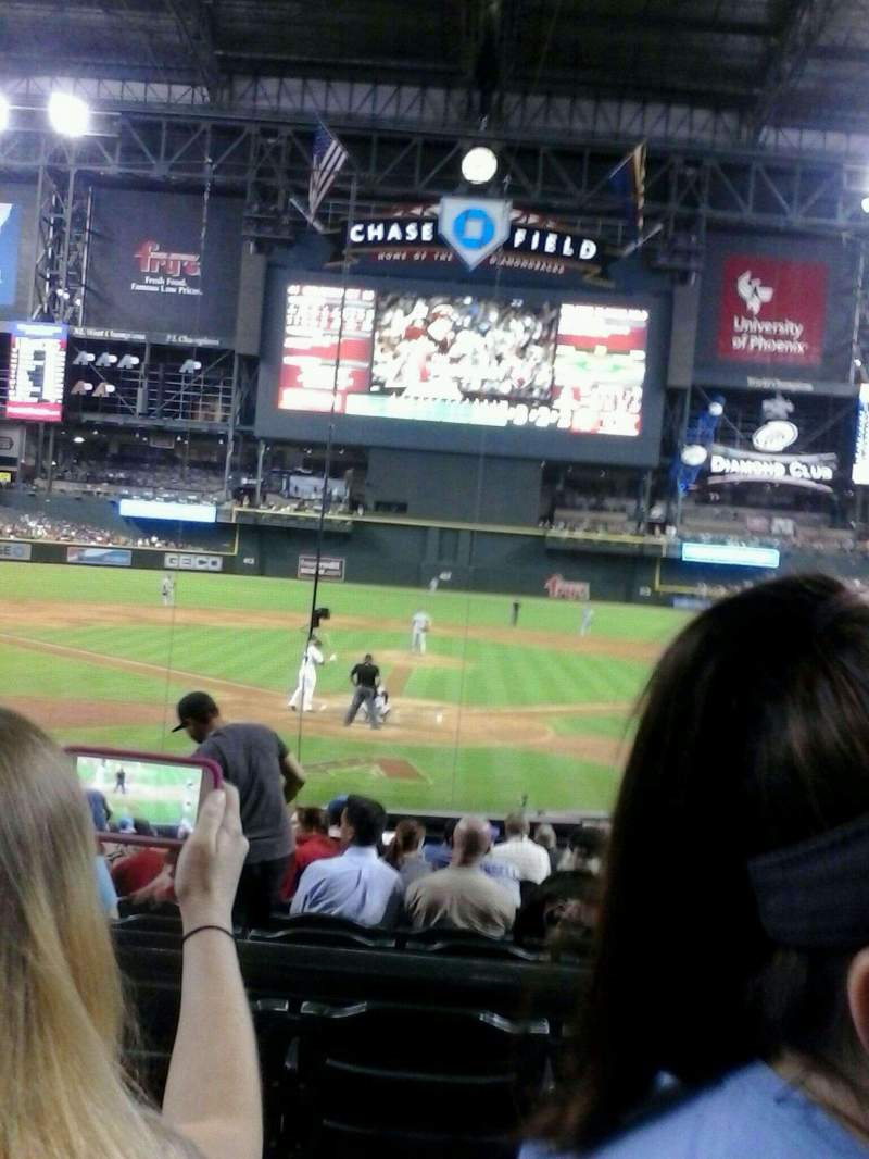 Seating view for Chase Field Section 122 Row 15 Seat 17