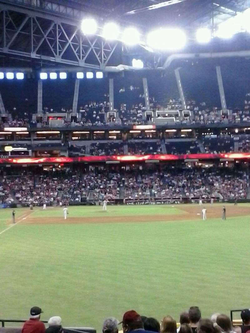 Seating view for Chase Field Section 106