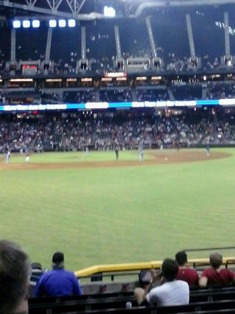 Seating view for Chase Field Section 106 Row H Seat 11