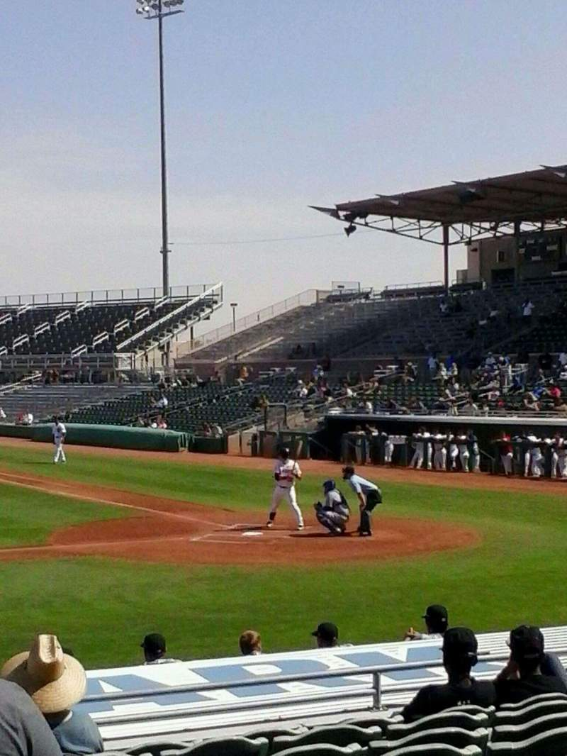 Seating view for HoHoKam Stadium Section 108 Row 6