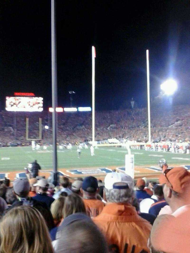 Seating view for Rose Bowl Section 25-L Row 7 Seat 9