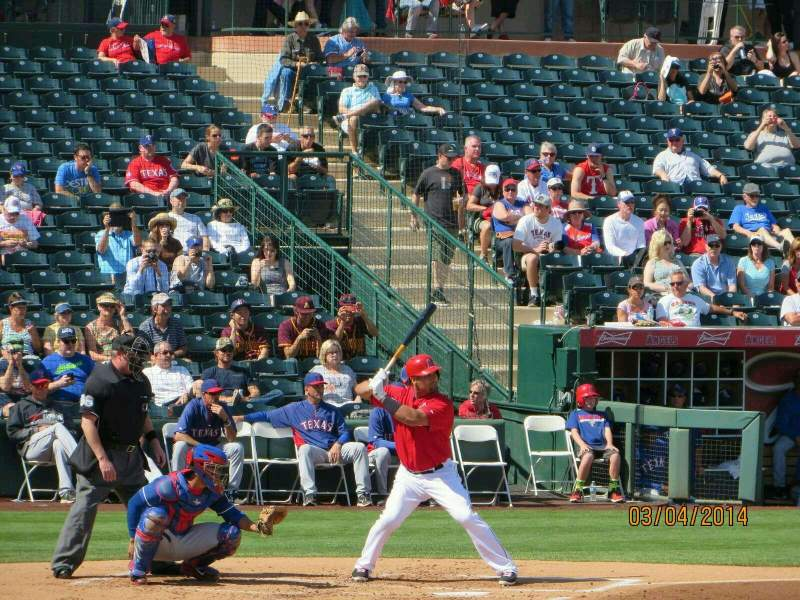 Seating view for Tempe Diablo Stadium Section 18 Row K Seat 14
