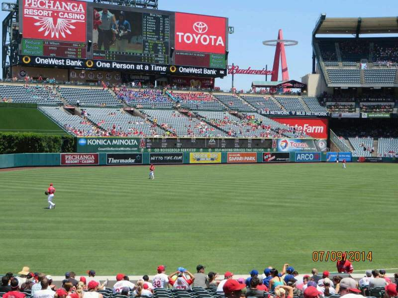 Angel Stadium, section: T204, row: P, seat: 12