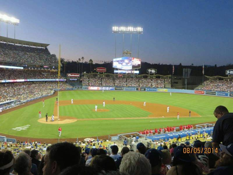 Seating view for Dodger Stadium Section 120LG Row L Seat 3