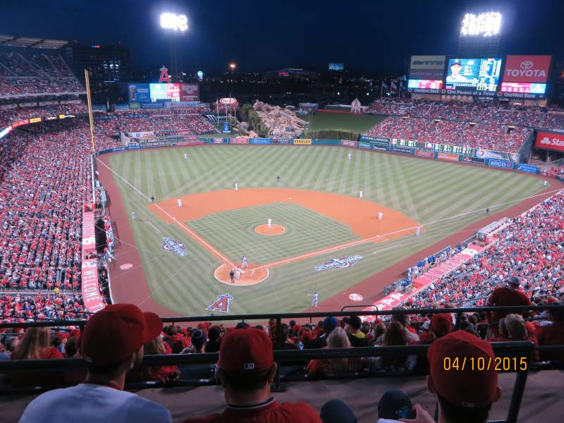 Seating view for Angel Stadium Section V522 Row C Seat 17