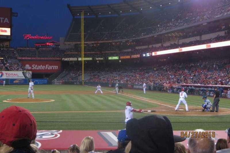 Seating view for Angel Stadium Section F113 Row J Seat 5