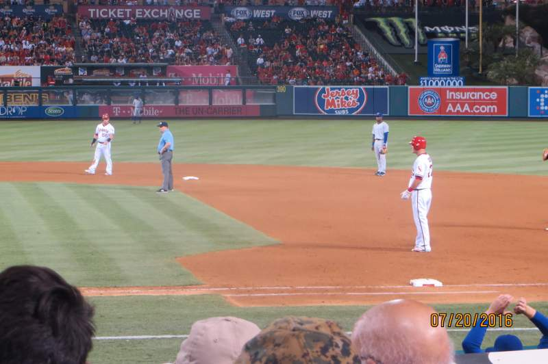 Seating view for Angel Stadium Section F124 Row G Seat 15