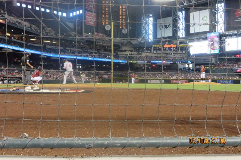 Seating view for Chase Field Section GW Row AW Seat 6
