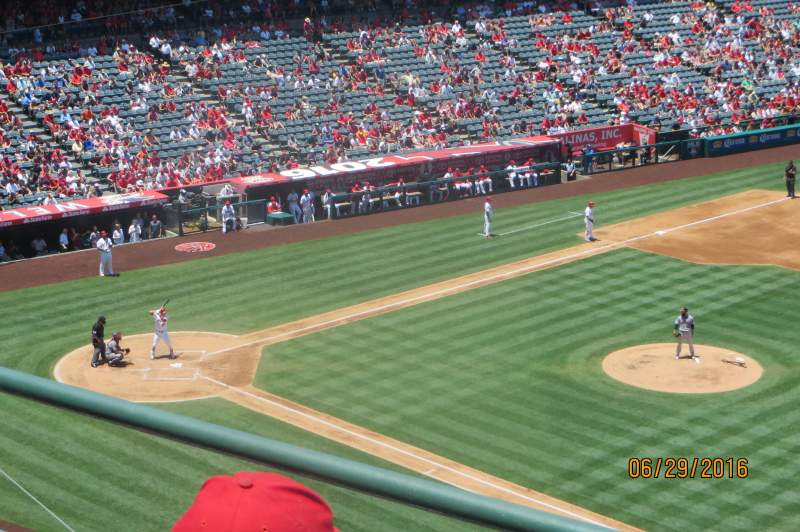Seating view for Angel Stadium Section V427 Row C Seat 6