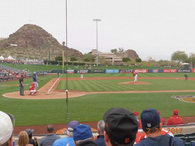Seating view for Tempe Diablo Stadium Section 14 Row G Seat 15
