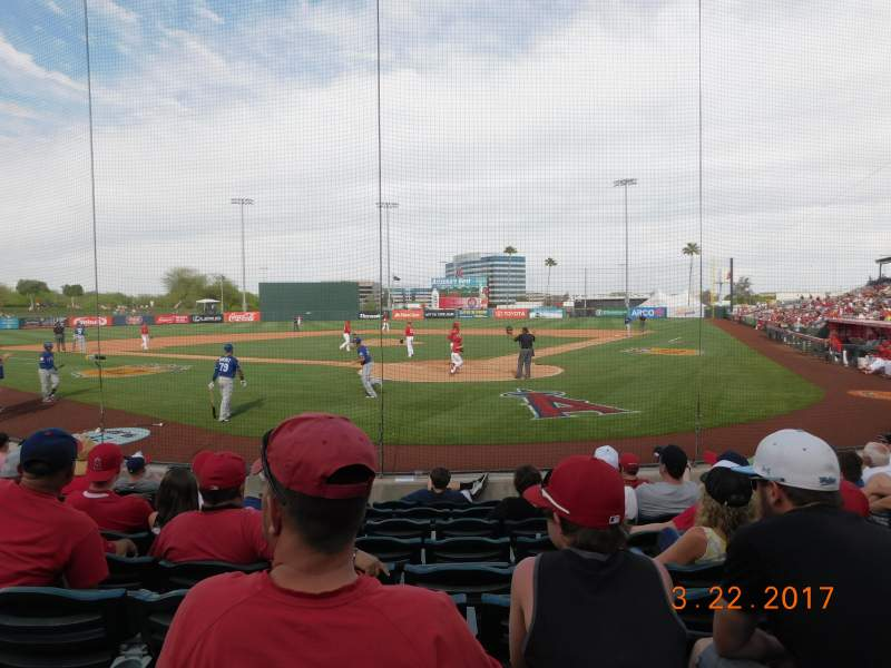 Seating view for Tempe Diablo Stadium Section 10 Row J Seat 5