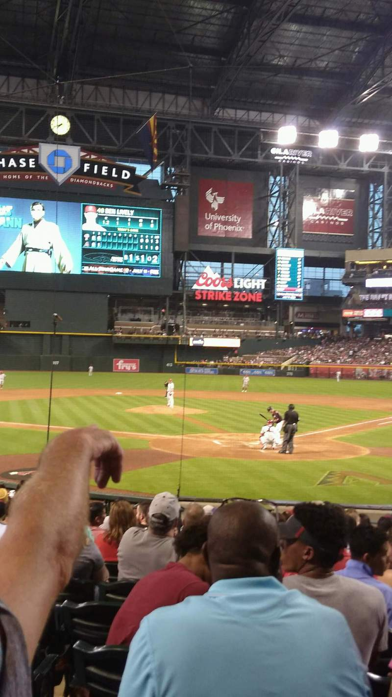 Seating view for Chase Field Section K Row M Seat 9