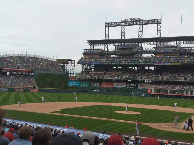 Seating view for Coors Field Section 134 Row 27 Seat 5