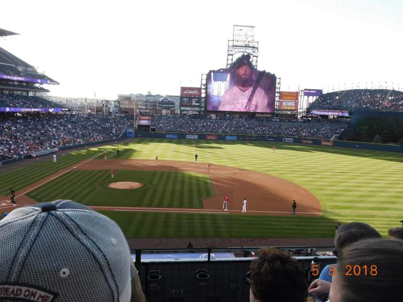 Coors Field, section: 223, row: 4, seat: 5