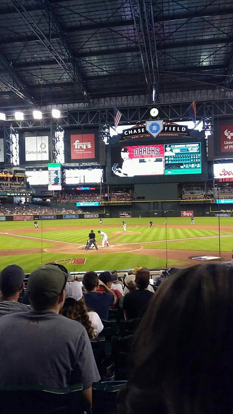 Chase Field, section: I, row: M, seat: 3
