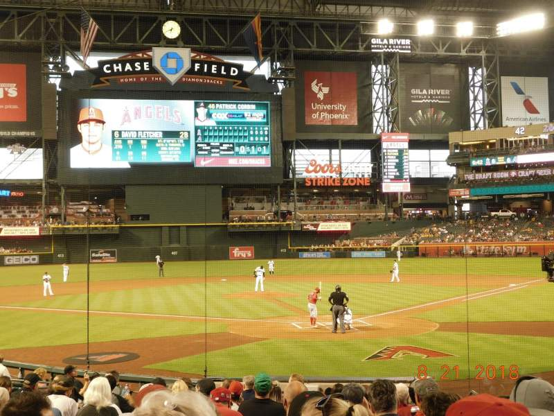Seating view for Chase Field Section K Row M Seat 5
