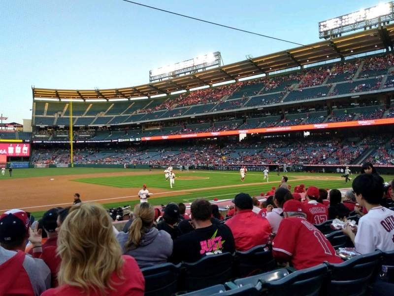 Seating view for Angel Stadium Section F110 Row M Seat 5