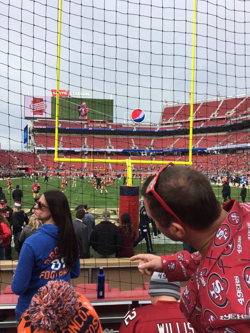 Seating view for Levi's Stadium Section 127 Row 1 Seat 15