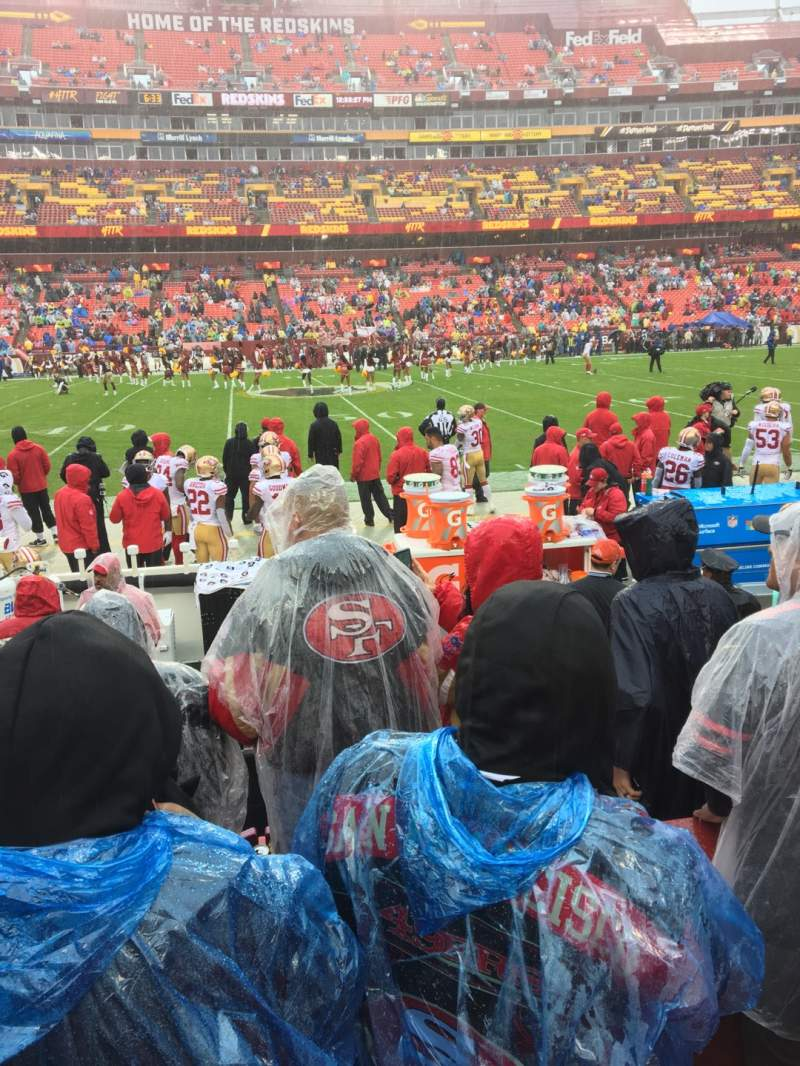 Seating view for FedEx Field Section 122 Row 3 Seat 8