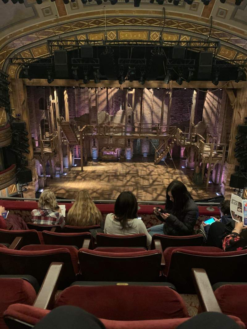 Seating view for Richard Rodgers Theatre Section Front Mezzanine R Row E Seat 24