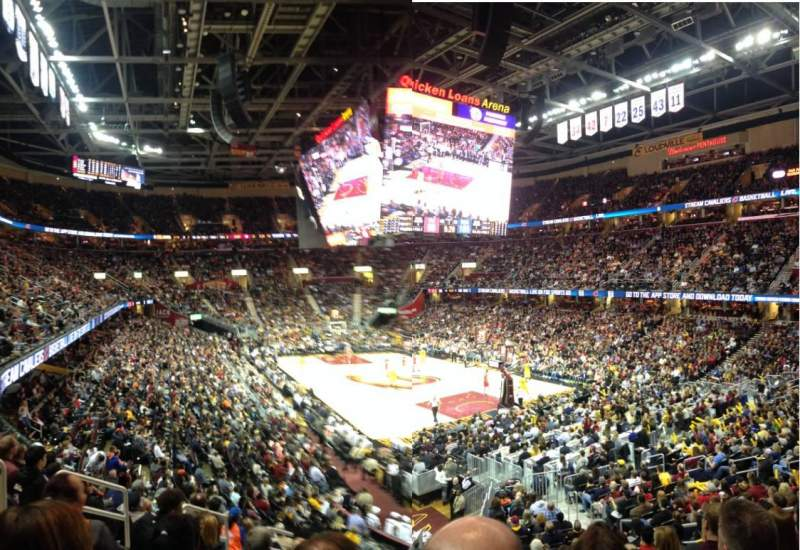 Seating view for Quicken Loans Arena Section 133 Row 17