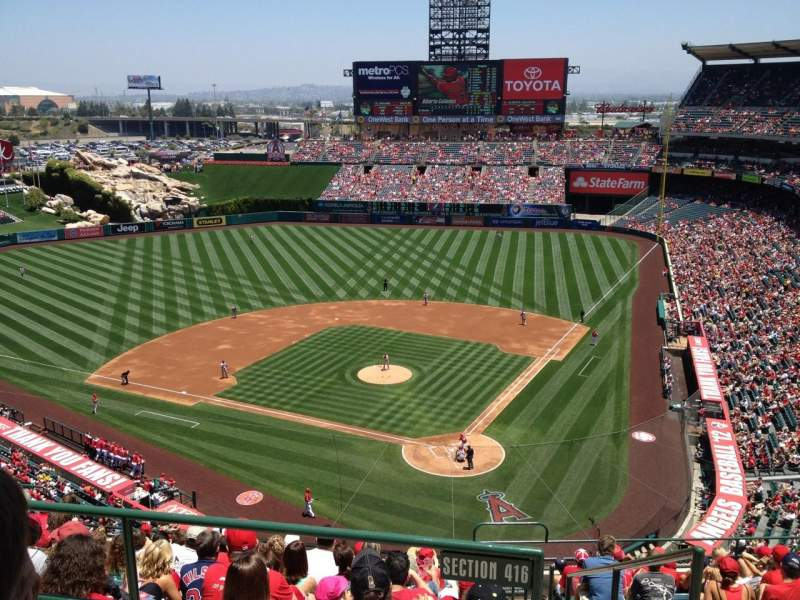 Seating view for Angel Stadium Section V518 Row B Seat 15