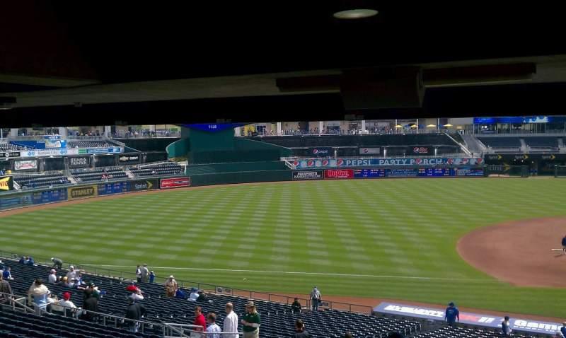 Seating view for Kauffman Stadium Section 209 Row KK Seat 13