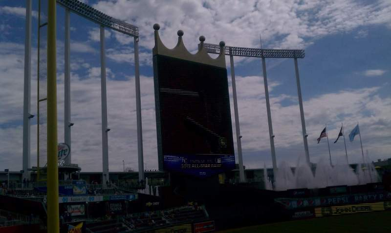 Seating view for Kauffman Stadium Section 209 Row KK Seat 13