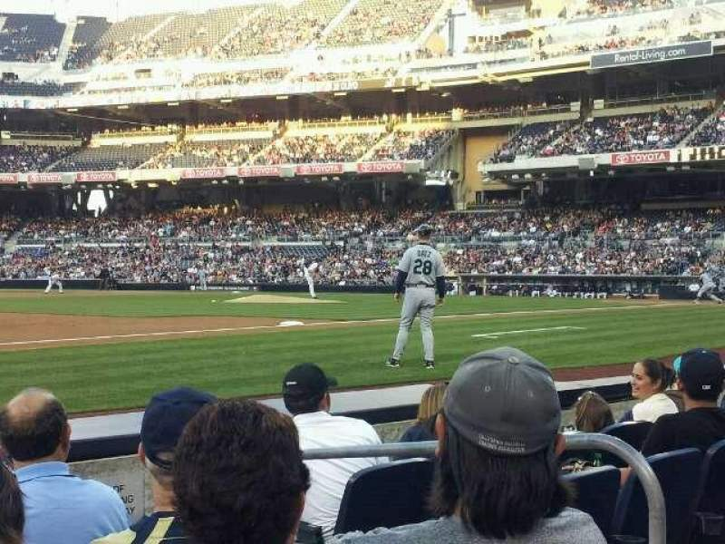 Seating view for PETCO Park Section 114 Row 5 Seat 8