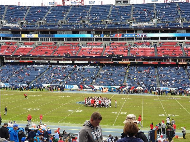 Seating view for Nissan Stadium Section 111 Row KK Seat 9