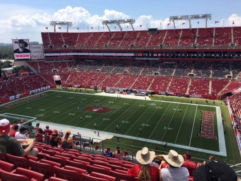Seating view for Raymond James Stadium Section 339 Row H Seat 22
