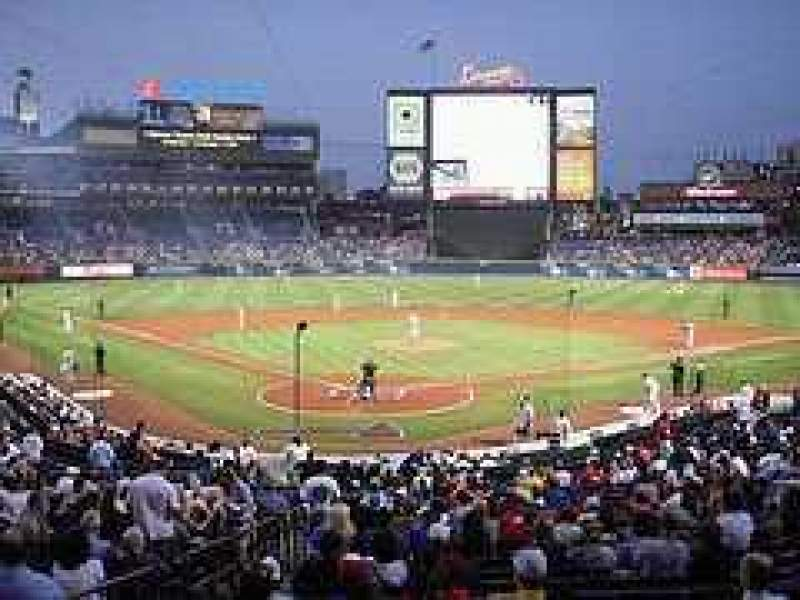 Seating view for Turner Field Section Lower level Row Last row