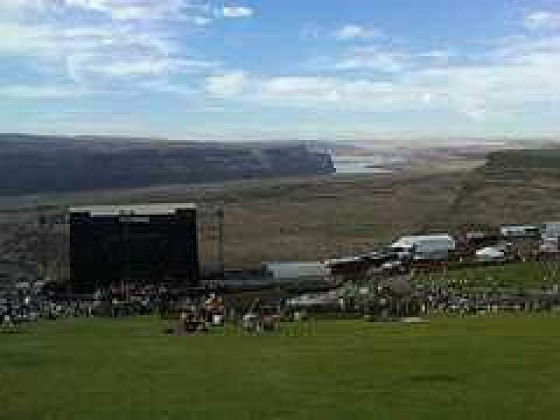 Seating view for Gorge Amphitheatre Section Lawn Row Top