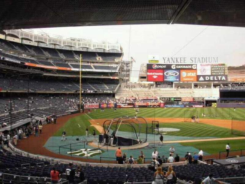 Seating view for Yankee Stadium Section 118 Row 9 Seat 3