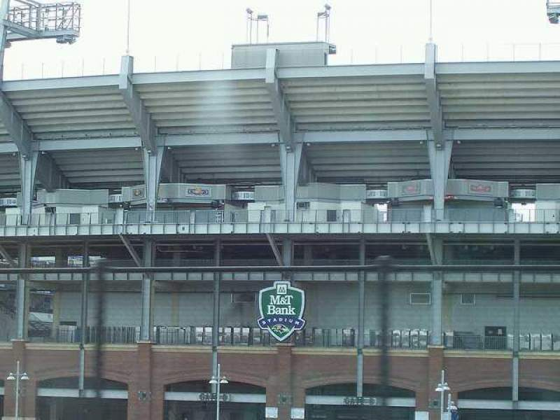 Seating view for M&T Bank Stadium Section Gate B