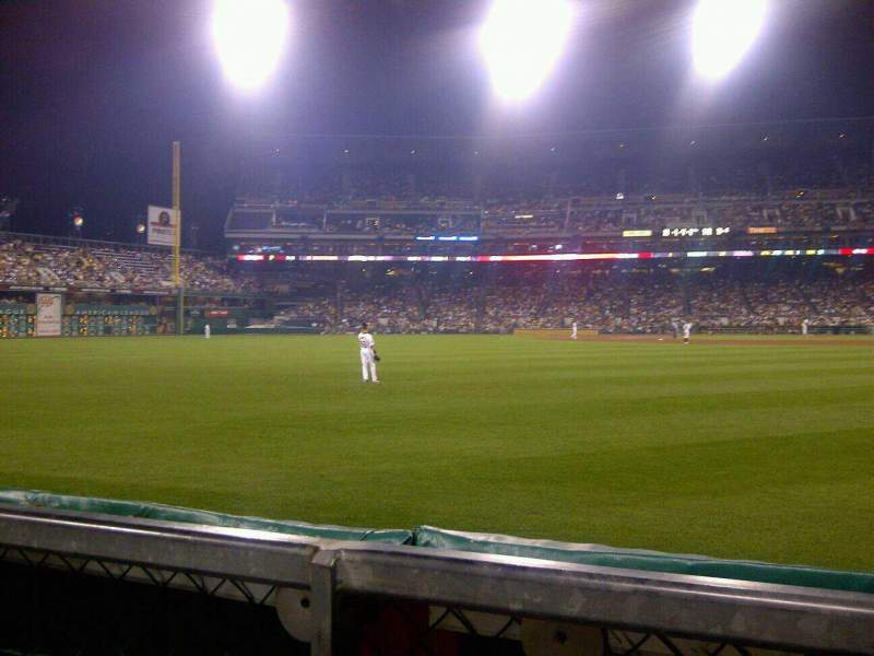 Seating view for PNC Park Section Left Field