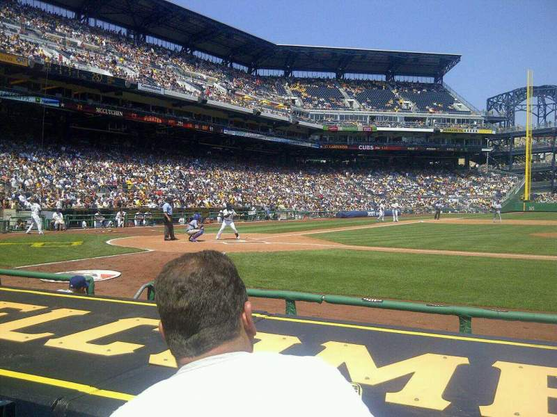 Seating view for PNC Park Section 11 Row G Seat 8