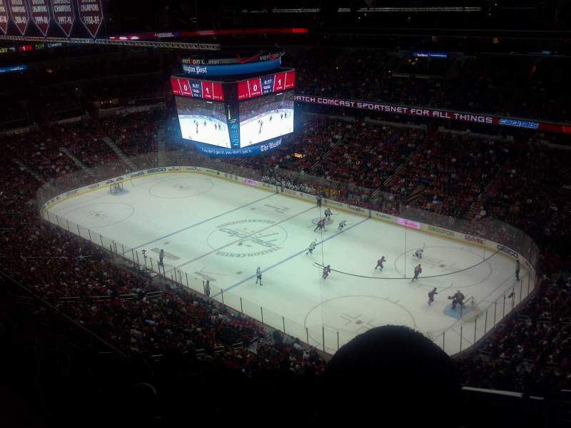 Seating view for Verizon Center Section 421 Row N Seat 1