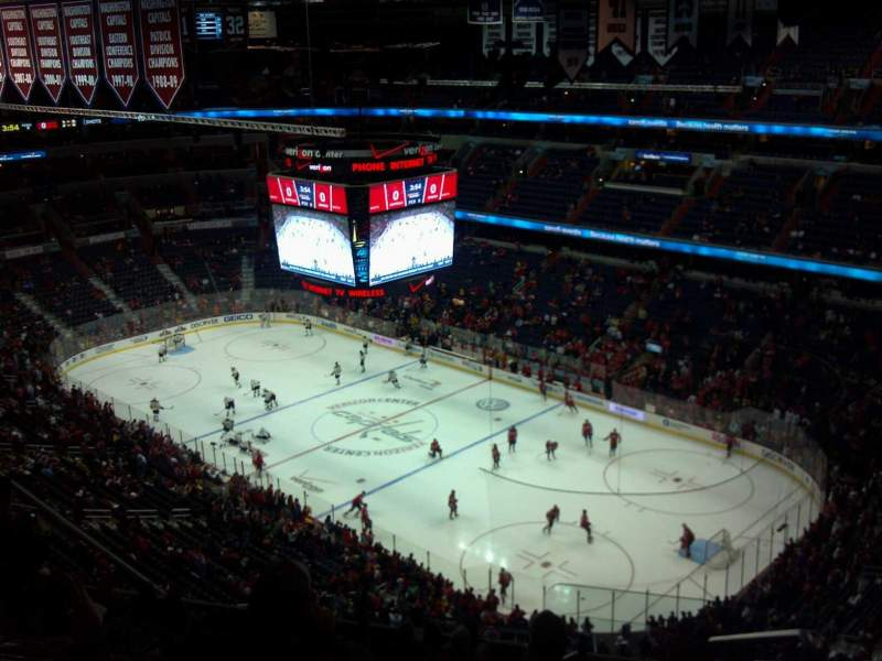 Seating view for Verizon Center Section 421 Row N Seat 21
