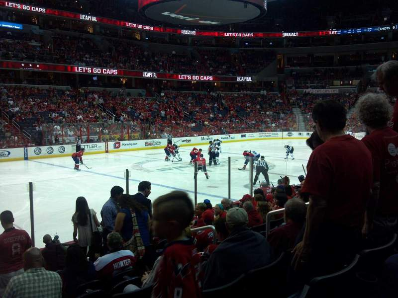 Seating view for Verizon Center Section 120 Row L Seat 10