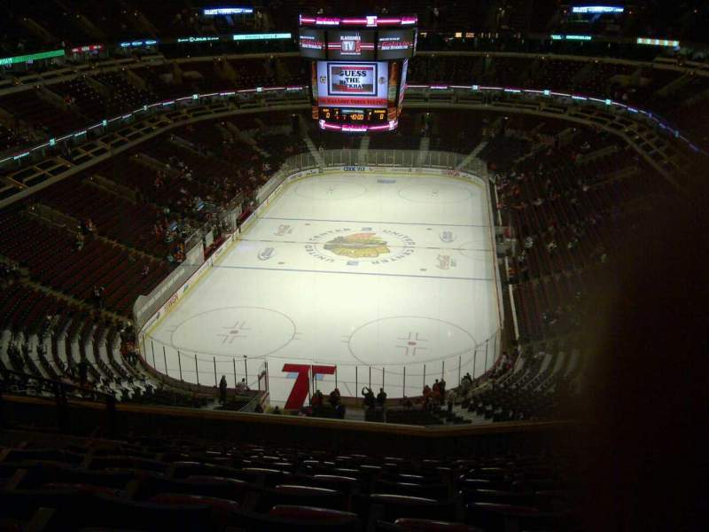 Seating view for United Center Section 325 Row 12 Seat 14