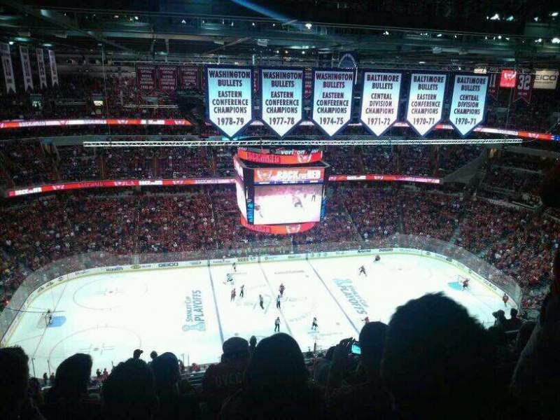 Seating view for Verizon Center Section 433 Row Q Seat 9