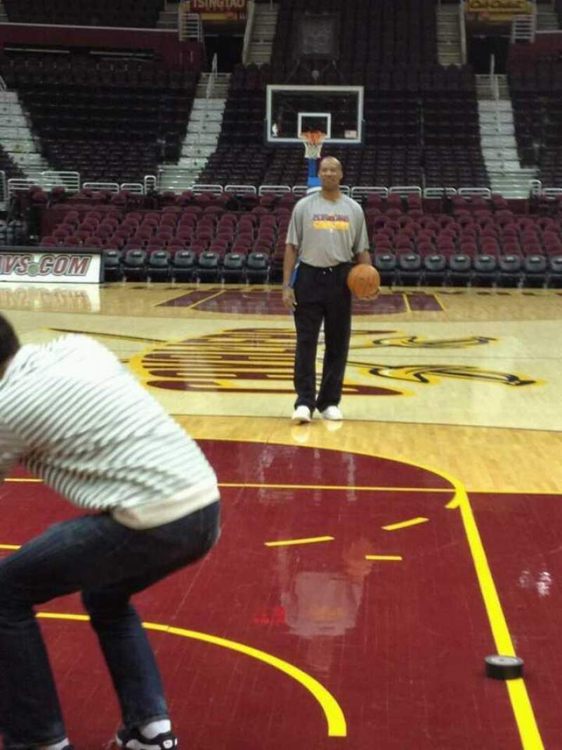 Seating view for Quicken Loans Arena Section Court