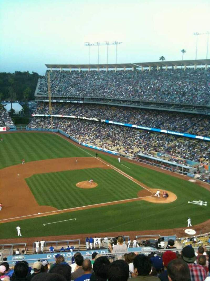 Seating view for Dodger Stadium Section Reserve Row O Seat 18