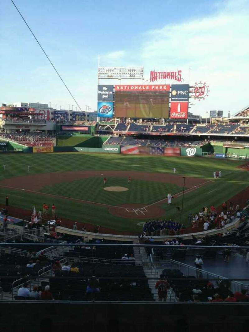 Seating view for Nationals Park Section 212 Row C Seat 3