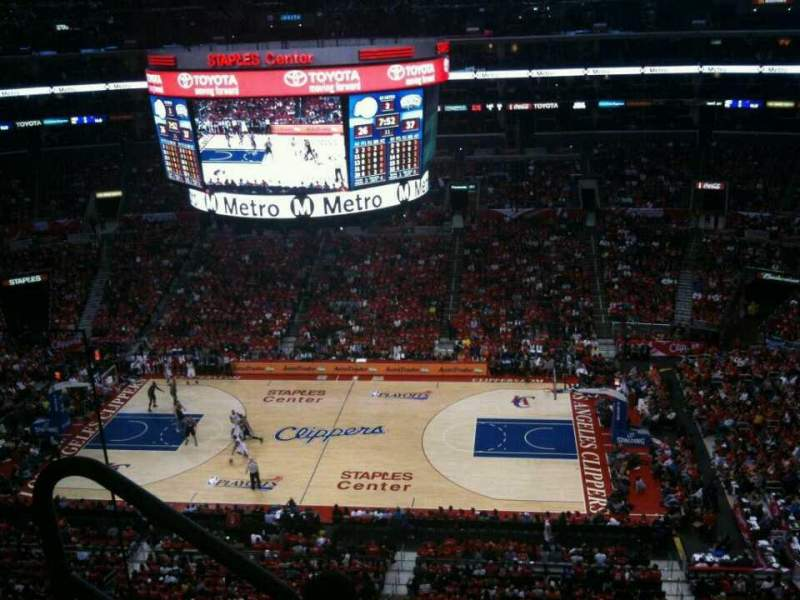 Seating view for Staples Center Section 317 Row 4 Seat 10